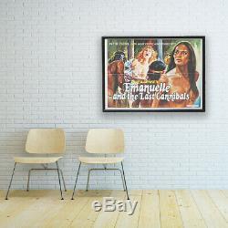 Vintage Emanuelle Et Le Dernier Cannibals Quad Movie Poster Art Décoratif 1977