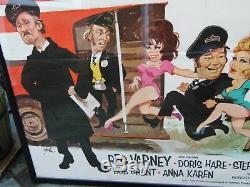 Vintage Original Britannique Britannique Sur Les Bus 1971 Quad Cinema Poster De Film Encadré