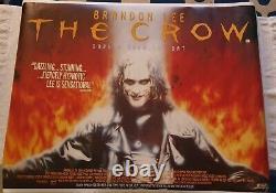 Vintage Rare 1994 The Crow Uk Quad Movie Poster Brandon Lee 95 X 72cm