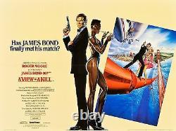 Voir À A Kill'85 Uk Quad Roger Moore Grace Jones James Bond 007 Filmartgallery