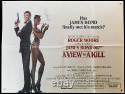 Voir James Bond Dangereusement Vôtre (1985) - Original Style B Uk Quad Film Affiche Du Film