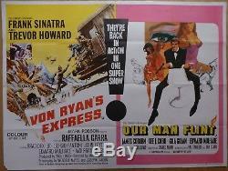 Von Ryan's Express / Notre Homme Flint (1966) Affiche Originale Du Film / Film Quad Uk