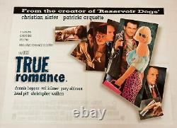 Vrai Romance Original 1993 Royaume-uni Quad Affiche De Cinéma Culte De Cinéma Slater Arquette Pitt