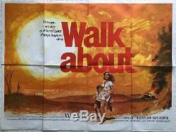 Walkabout Affiche Britannique Originale De Film Britannique Quad 1971 1971 Art De Jenny Agutter Chantrell