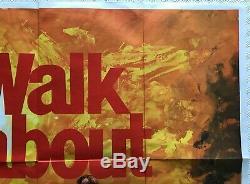 Walkabout Affiche Britannique Originale De Film Britannique Quad Uk 1971 Art De Jenny Agutter Chantrell