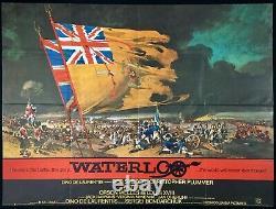 Waterloo Original Quad Movie Poster Orson Welles Fratini Artwork 1970