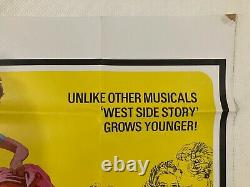 West Side Story Original 1968 Re Sortie Film Quad Poster Natalie Wood