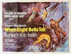 When Eight Bells Toll Original Uk Quad Film Poster 1971 Brian Bysouth Artiste