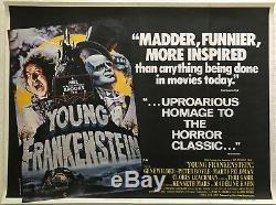 Young Frankenstein Film Original Quad Poster 1974 Mel Brooks John Alvin Création