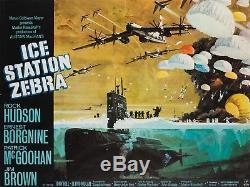 Zebra Uk Quad De La Station De Glace Originale, Bob Mccall, Affiche De Film / Film