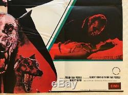 Zoltan Hound Of Dracula Affiche Originale Britannique Quad De Films 1977 Art De Mike Bell