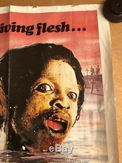 Zombie Creeping Flesh - Affiche De Film Cinématographique Britannique Originale, Quad Cinema, Vidéo Nasty