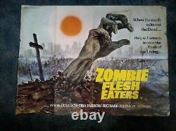 Zombie Flesh Eaters. Affiche Originale De Film Uk Quad